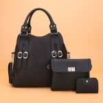 3 in 1 Casual PU Shoulder Bag Ladies Handbag Messenger Bag