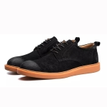 Man Fashion Casual Lace-up Light Shoes (Color:Black Size:38)