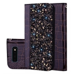 Crocodile Texture Glitter Powder Horizontal Flip Leather Case For Galaxy S10+