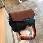 Women Small Square Bag Shoulder Bag Fashion Messenger Bag (Black)