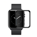 mocolo 0.33mm 9H 3D Round Edge Tempered Glass Film for Apple Watch Series 4 44mm (Black)