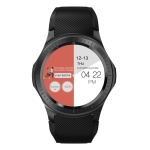 DM368 PLUS 1.3 inch IPS Screen Smart Watch, 1GB +16GB, Support Heart Rate Monitoring / Pedometer / Multi-sport Mode / Independent Card Call(Black)