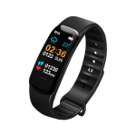 C1S 0.96 inches IPS Color Screen Smart Bracelet IP67 Waterproof, Support Call Reminder /Heart Rate Monitoring /Blood Pressure Monitoring /Sleep Monitoring /Sedentary Reminder / Remote Control (Black)