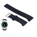 Solid Color Wrist Strap Watch Band for Galaxy Gear S2 R720 (Black)