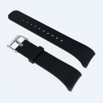 Solid Color Leather Wrist Strap Watch Band for Galaxy Gear Fit2 R360 (Black)