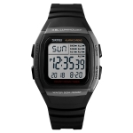SKMEI 1278 Fashionable Outdoor Waterproof Digital Watch Student Sports Wrist Watch Support 5 Group Alarm Clocks (Titanium)