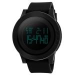 SKMEI 1142 Multifunctional Men Outdoor Sports Noctilucent Waterproof Silica Gel Digital Watch (Black)