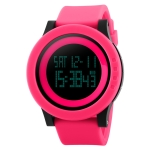SKMEI 1142 Multifunctional Men Outdoor Sports Noctilucent Waterproof Silica Gel Digital Watch (Red)