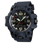 SKMEI 1155 Multifunctional Men Outdoor Sports Noctilucent Waterproof Digital Watch(Black)