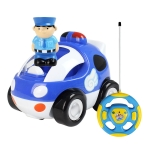 MoFun 508B Two-way Cartoon Remote Control Car Children Toy Car with Light & Music & Engine Sound(Blue)