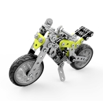 MoFun ZHIBO SW-003 188 PCS DIY Stainless Steel Street Motorcycle Assembling Blocks
