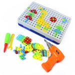MoFun ZHIBO 608 240 PCS DIY Disassembly Screw Nut Electric Drill Jigsaw Puzzle Educational Toys with Nut Electric