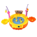MoFun ZHIBO KM68015 USB Electric Magnetic Fishing Toys with Light & Music(Orange)