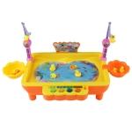 MoFun ZHIBO KM68016 USB Electric Magnetic Fishing Toys with Light & Music(Orange)