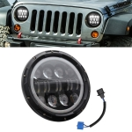 7 Inch 40W 4500LM 6000K + 3000K 12 LED Car Truck Off-road Vehicle Circular LED Angel Eye Herdsman Lamp Headlights Work Lights Spotlight