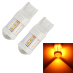 2 PCS T20 / 7440 4.5W DC 12V Car Auto Ceramics Turn Lights 18LEDs SMD-3030 Lamps, with Projector Lens (Orange Light)
