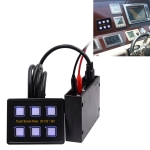 6 Way Switches Touch Screen Multi-function Combination Switch Panel for Car RV Marine Boat