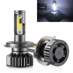 2 PCS EV8 H4 / HB2 / 9003 DC 9-32V 36W 3000LM 6000K IP67 DOB LED Car Headlight Lamps, with Mini LED Driver and Cable (White Light)