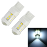 2 PCS T20 / 7440 4.5W DC 12V 6000K 360LM Car Auto Ceramics Turn Lights / Reversing Light 18LEDs SMD-3030 Lamps, with Projector Lens (White Light)