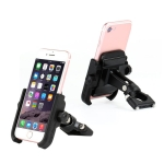 Motorcycle Handlebar Aluminum Alloy Phone Bracket, Suitable for 4-6 inch Device (Black)