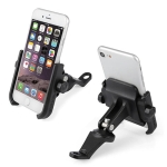 Motorcycle Rear View Mirror Aluminum Alloy Phone Bracket, Suitable for 4-6 inch Device (Black)