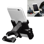 Motorcycle Handlebar Aluminum Alloy Phone Bracket, Suitable for 60-100mm Device (Black)