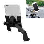 Motorcycle Rear View Mirror Aluminum Alloy Phone Bracket, Suitable for 60-100mm Device (Black)