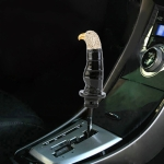 Universal Car Eagle Shape Metal Gear Shift Knob Modified Car Auto Transmission Shift Lever Knob (Black)