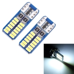 2 PCS T10 / W5W / 168 / 194 DC12V 1.4W 6000K 90LM 12LEDs SMD-3014 Car Reading Lamp Clearance Light, with Decoder