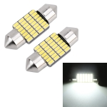 2 PCS 31mm DC12V / 1.2W / 6000K / 80LM 28LEDs SMD-3014 Car License Plate Light / Dome Light, with Decoder