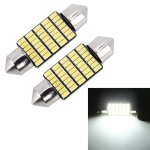 2 PCS 36mm DC12V / 1.2W / 6000K / 80LM 33LEDs SMD-3014 Car License Plate Light / Dome Light, with Decoder