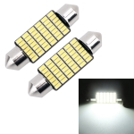 2 PCS 39mm DC12V / 1.2W / 6000K / 80LM 42LEDs SMD-3014 Car License Plate Light / Dome Light, with Decoder