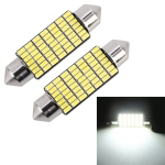 2 PCS 41mm DC12V / 1.2W / 6000K / 80LM 49LEDs SMD-3014 Car License Plate Light / Dome Light, with Decoder