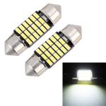 2 PCS 31mm DC12V / 1.5W / 6000K / 100LM 18LEDs SMD-3014 Car License Plate Light / Dome Light