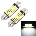 2 PCS 36mm DC12V / 1.5W / 6000K / 100LM 27LEDs SMD-3014 Car License Plate Light / Dome Light
