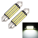 2 PCS 39mm DC12V / 1.5W / 6000K / 100LM 30LEDs SMD-3014 Car License Plate Light / Dome Light