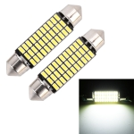 2 PCS 41mm DC12V / 1.5W / 6000K / 100LM 33LEDs SMD-3014 Car License Plate Light / Dome Light
