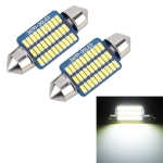 2 PCS 36mm DC12V / 1.5W / 6000K / 100LM 30LEDs SMD-3014 Car License Plate Light / Dome Light, with Decoder