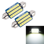 2 PCS 39mm DC12V / 1.5W / 6000K / 100LM 36LEDs SMD-3014 Car License Plate Light / Dome Light, with Decoder