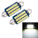 2 PCS 41mm DC12V / 1.5W / 6000K / 100LM 36LEDs SMD-3014 Car License Plate Light / Dome Light, with Decoder