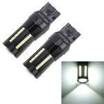 2 PCS T20 / 7440 DC9-16V / 8.2W / 6000K / 655LM Car Auto Reversing Lights / Turn Light 66LEDs SMD-2016 Lamps