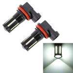 2 PCS H11 / H8 DC9-16V / 8.2W / 6000K / 655LM Car Auto Fog Light 66LEDs SMD-2016 Lamps