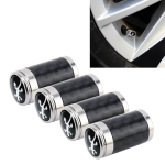 4 PCS Carbon Fiber Gas Cap Mouthpiece Cover Gas Cap Tire Cap Car Motor Bicycle Tire Valve Caps