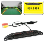 PZ423 America Car License Plate Frame 120 Degree Rear View Camera