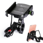 Motorcycles / Bicycle USB Charger QC 3.0 Fast Charging Phone Bracket, Suitable for 6-9cm Device (Black)