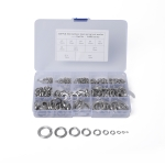 325 PCS Stainless Steel Spring Lock Washer Assorted Kit M2-M16 for Car / Boat / Home Appliance