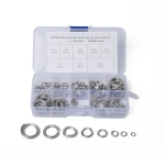 75 PCS Stainless Steel Spring Lock Washer Assorted Kit M4-M16 for Car / Boat / Home Appliance