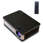 A76 5.8 inch Single LCD Display Panel 1280x768P Smart Projector with Remote Control, Android 6.0, Support AV / VGA / HDMI / USBX2 / SD Card /Audio (Black)