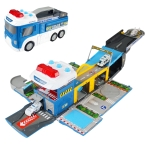 MoFun E5018 Deformed Electric Acousto-optic Police Car Track/Parking Police Mobile Headquarters