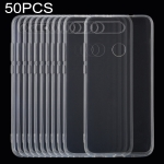 50 PCS 0.75mm Ultrathin Transparent TPU Soft Protective Case for Huawei Honor V20